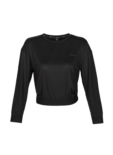 Lumberjack Ct391 Mila Mesh Top Kadın Uzun Kol T-Shirt Siyah